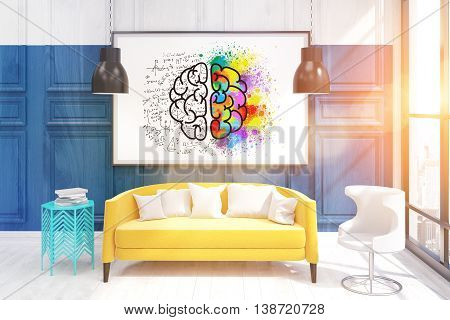 Interior Of Living Room With Big Picture