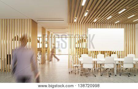 Blurry People In Open Office