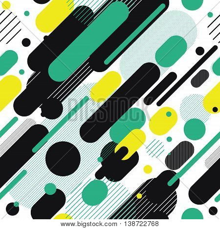 Vector Seamless Parallel Diagonal White Green Black Overlapping Color Lines Pattern Background Perfect Suit For Wallpaper Textile Web Background