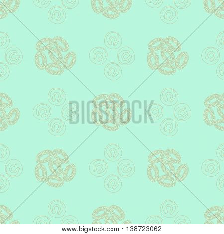 Plankton seamless pattern. Vector illustration with small organism of phytoplankton . Ideal for fabric textile backdrop wallpaper wrapping paper on environmental biological nature theme.