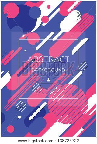 Simple universal geometric design of parallel lines in blue pink white colors. Perfect for background on poster for book cover magazine layout and other backdrops