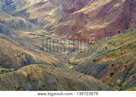 Colors in Atlas Mountains, Morocco, North Africa
