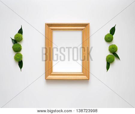 Wooden Frame With Empty Space.