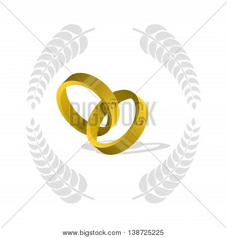 Gold ring , wedding rings , two gold rings ,