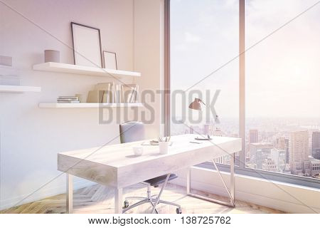 Office Workspace Sideview Toning