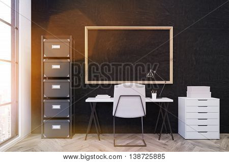 Workplace In Modern Office Environment