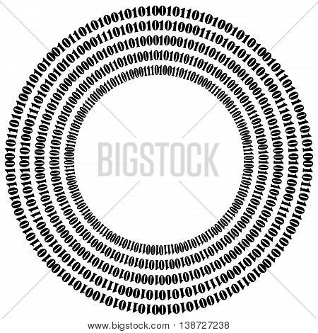 Binary Code Background. Numbers Concept. Algorithm, Data Code, Decryption and Encoding