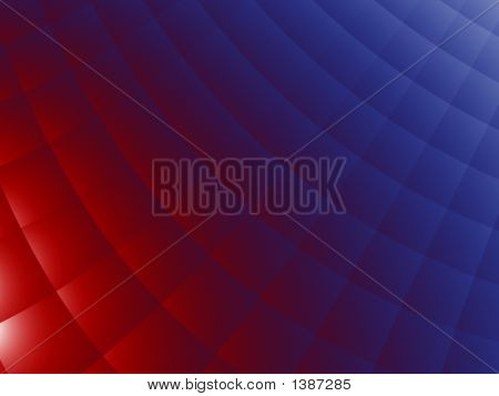 Red And Blue Bedcover - Abstract Background