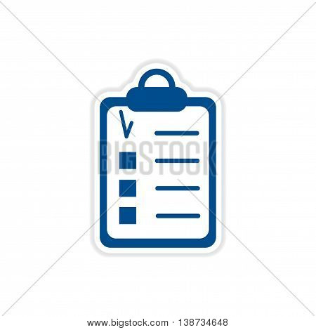 paper sticker icon on white background form