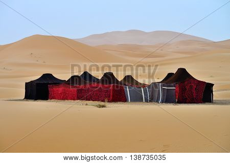Berber tents in the Sahara, Morocco, North Africa