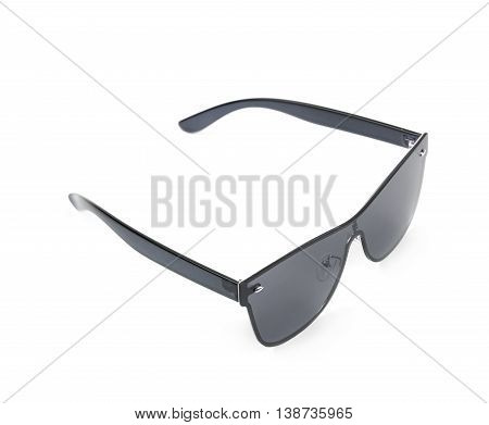 Pair of black shade sunglasses isolated over the white background