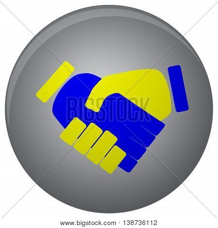 Handshake icon flat. Shaking hands and business handshake for partnership and meeting. Vector illustration