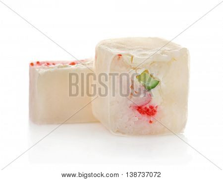 Sushi roll, isolated on white