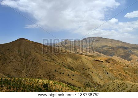Atlas Mountains landscape in Morocco, North Africa