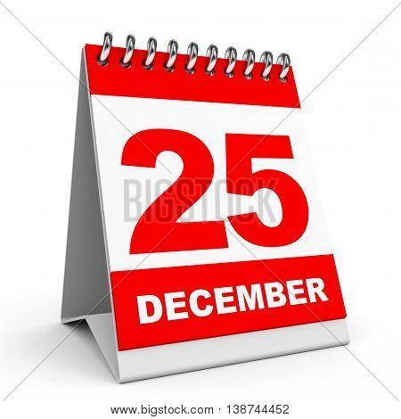 Calendar. 25 December.