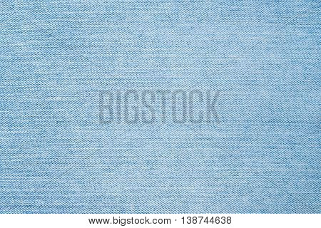 Close up of blue denim jeans background.