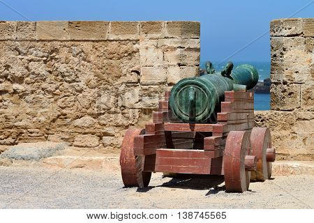 Old cannon in Essaouira, Morocco, North Africa