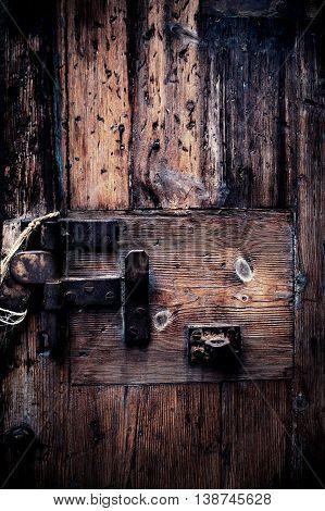 Grunge retro vintage wooden board/ Dusty Background