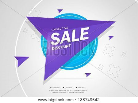 Sale Discount Limited Time Vector illustration Theme color.