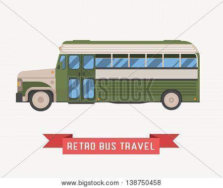 Retro Omnibus Illustration