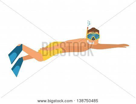Snorkeler Man In Wetsuit
