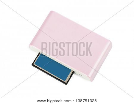 Card reader isolated on white background