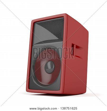 Big loudspeaker on white background, 3D illustration