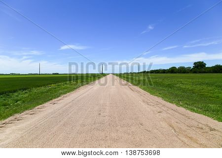 Farm Road In Kansas