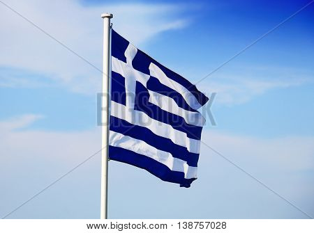 Waving Greek Flag
