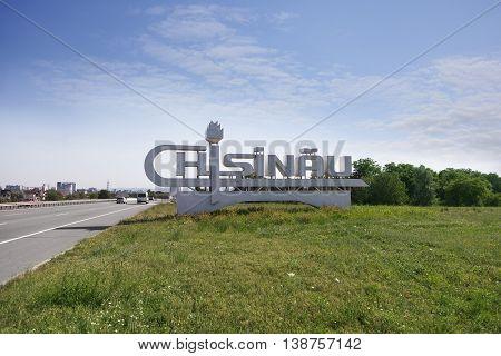 CHISINAU MOLDOVA- JULY 13 2016: Landmark the city of Chisinau. Boundary of the city of Chisinau.