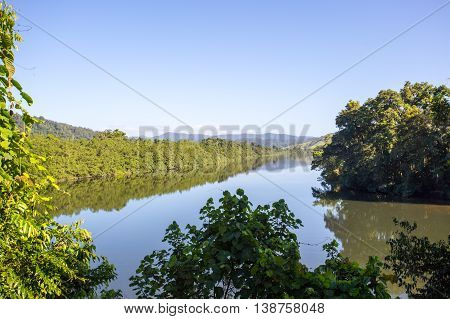 The Daintree River near the town of Daintree in far nth Queensland, Australia