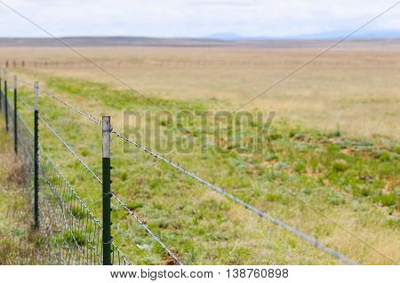 Barbed Enclosure In New Mexico
