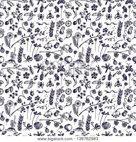 Vector Seamless Pattern Graphic Illustration