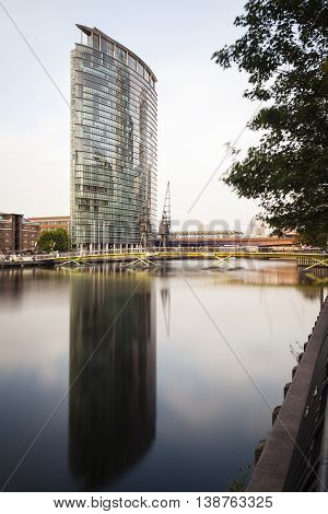 Canary Wharf Skyscraper In London, Editorial