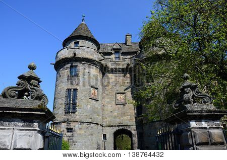An exterior view of the old Royal palace in Falkland