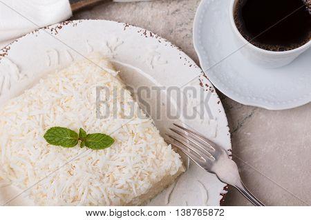 Brazilian Traditional Dessert: Sweet Couscous (tapioca) Pudding (cuscuz Doce)