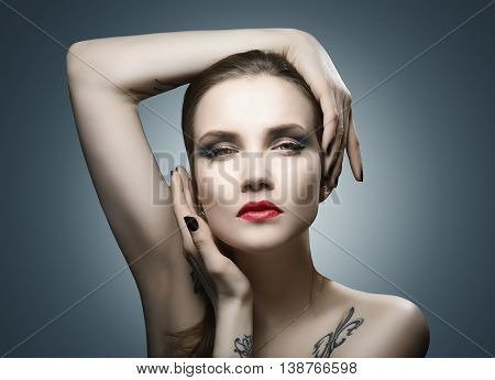 Glamour Beauty Fashion Woman Portrait