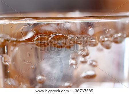 picture of a Glass of water with ice