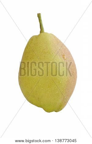 Fragrant pears sweet fragrant flavor and aroma on isolated white background and with work paths