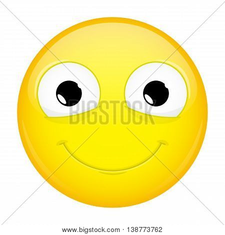 Smiling emoji. Good emotion. Happy emoticon. Vector illustration smile icon.