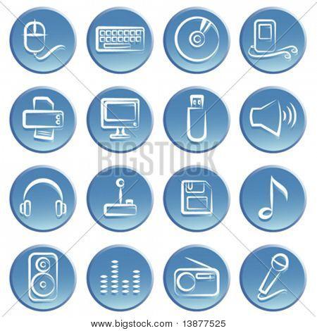 Elektronische Element Icon-set