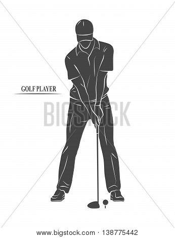Icon golf player on a white background.  illustration.