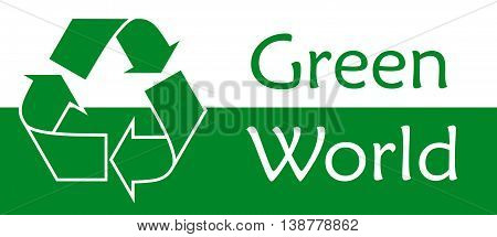 Green world Recycle symbol or sign of conservation green icon Vector symbol on the packaging.