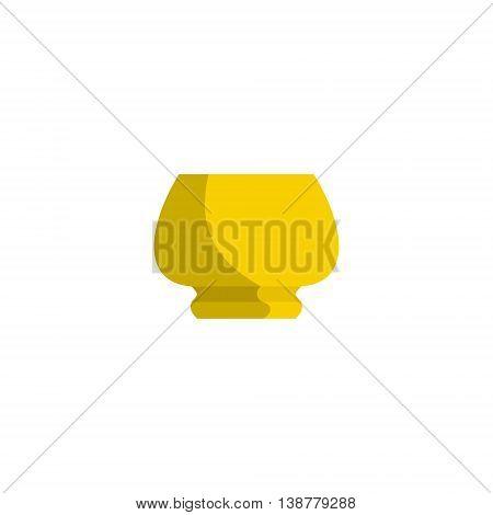 Image of flower pot flat style. Flowerpot icon illustration.