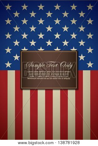 American insignia for book cover or background design template