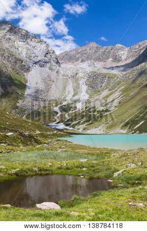 Rifflsee In Austria In Summer