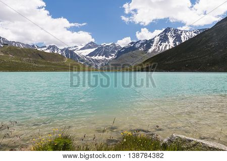 Rifflsee And Oetztal Alps In Austria