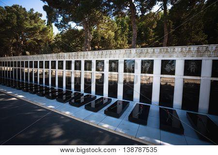 Tomb Of Heros In Baku, Azerbaijan