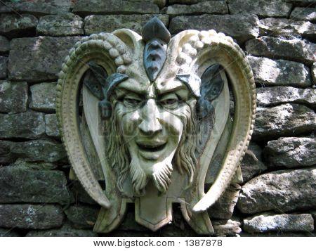 Sculpture Of The Satan/Devil. Symbol Of Evil/Bad.Religious Icon