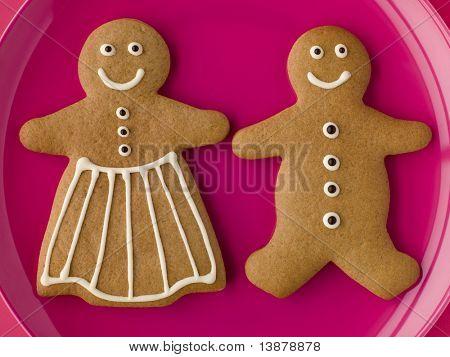 Hombre de jengibre y mujer de pan de jengibre